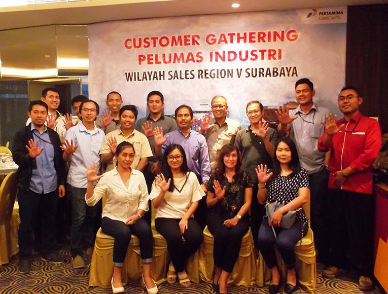 Pertamina Lubricant Gathering Participants in Surabaya